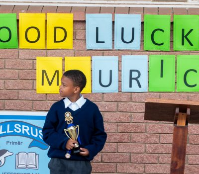 LOCAL LEARNER PARTICIPATES IN AFRICAN SPELLING BEE